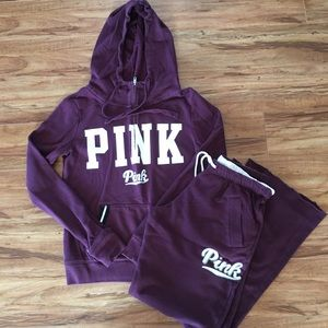 PINK Victoria's Secret Lounging Outfit 2 Pc Hoodie